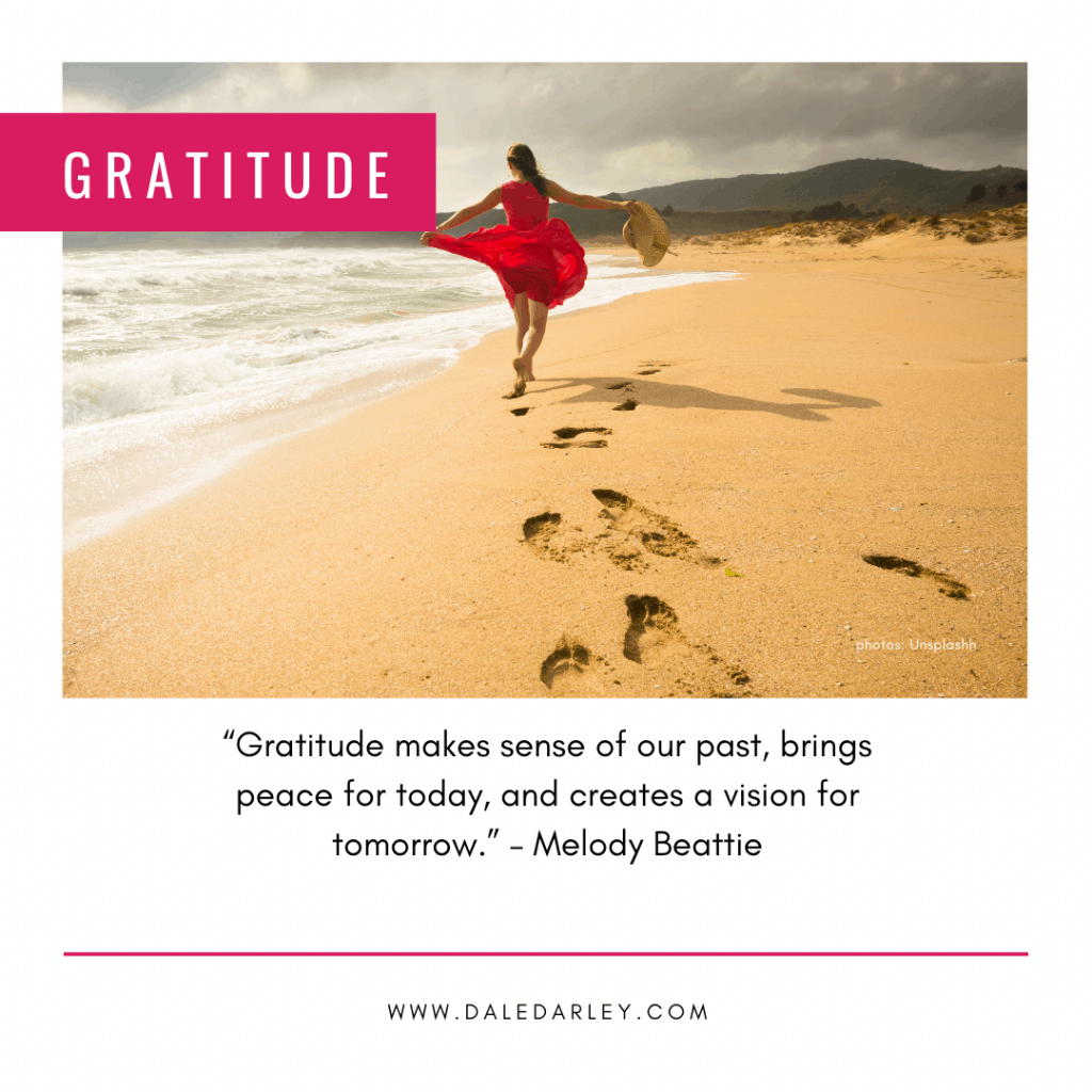 """""""Gratitude makes sense of our past, brings peace for today, and creates a vision for tomorrow."""" – Melody Beattie"""